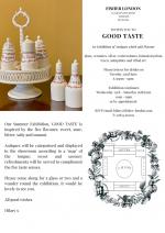 'Good Taste': Summer Exhibition