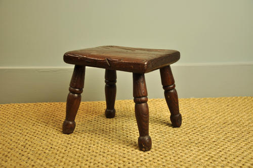 19th century elm stool