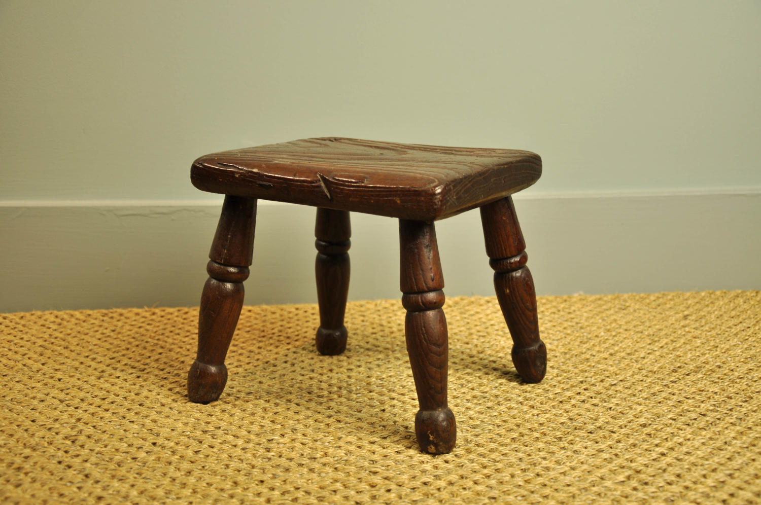 19th century elm stool