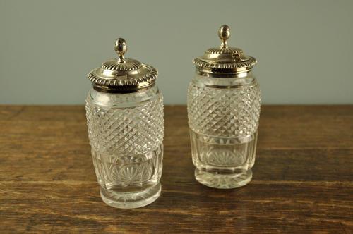Pair of Regency mustard pots