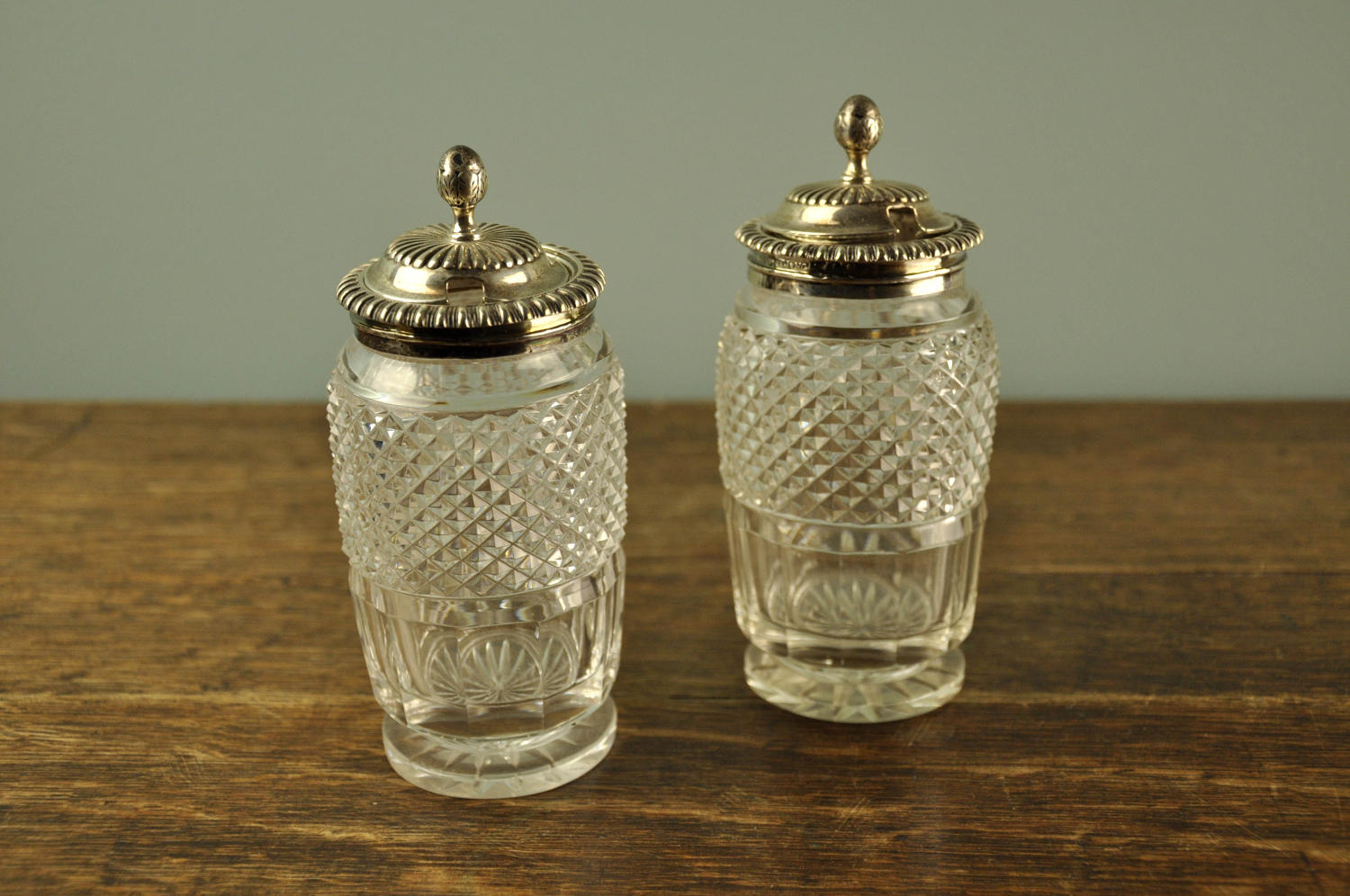 Pair of Regency mustard pots