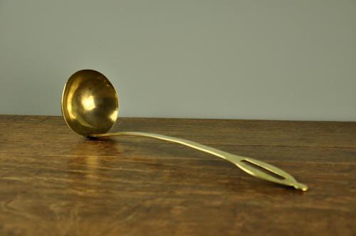 19th century brass ladle