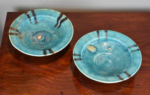 Pair of 12th century Persian dishes