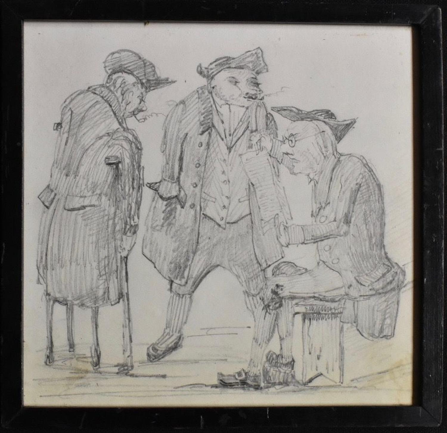 19th century satirical drawing