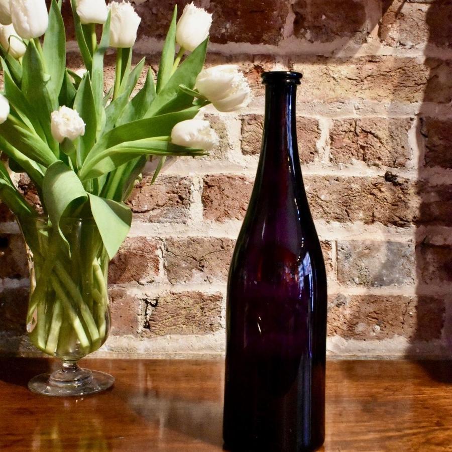 19th c. Amethyst serving bottle