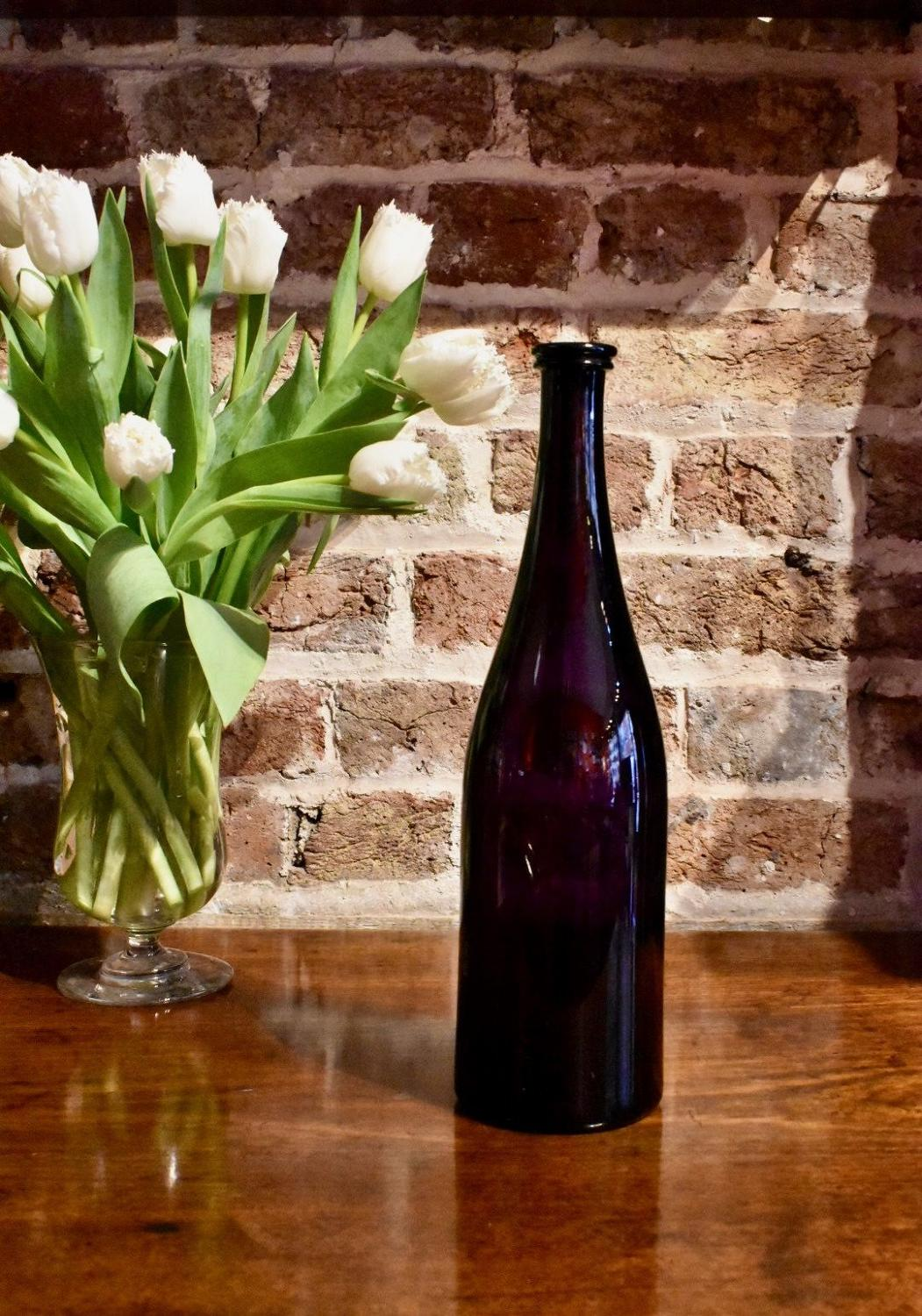 19th c. Amethyst serving bottle