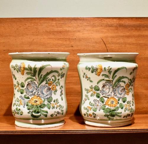 Pair of 18th c. Italian Albarelli