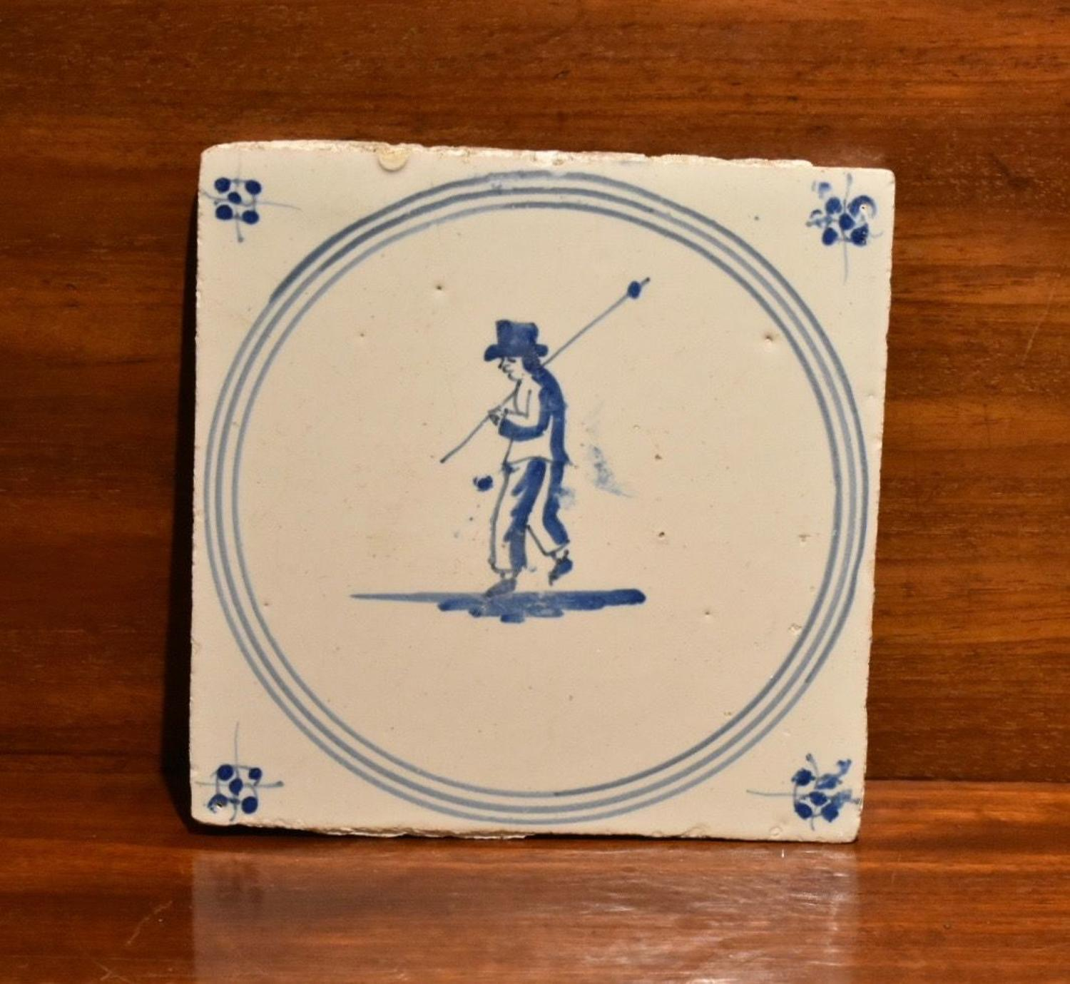18th century Dutch Delft tile