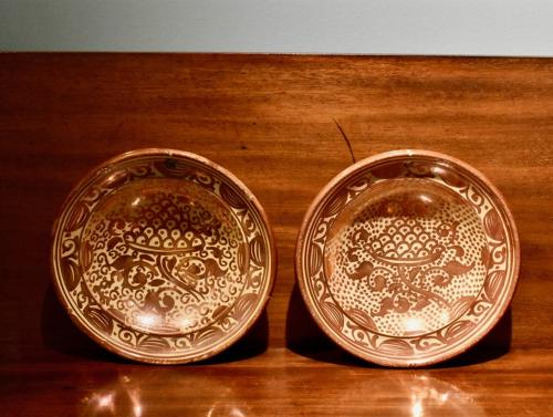 Pair of mid 19th c. lustre dishes