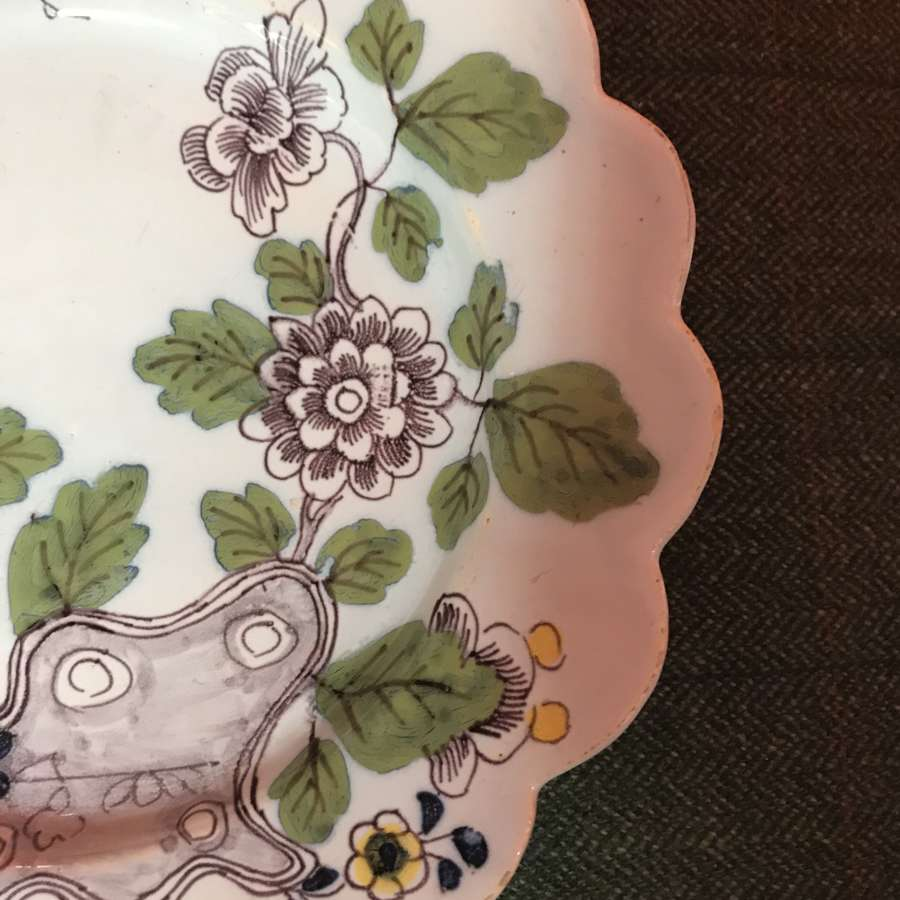 18th c. Bristol tin glaze earthenware plate