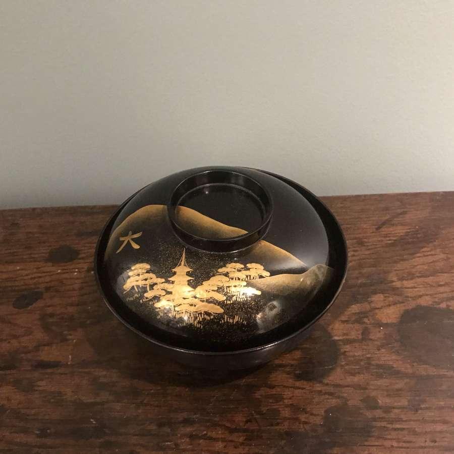 Meiji lacquer chawan
