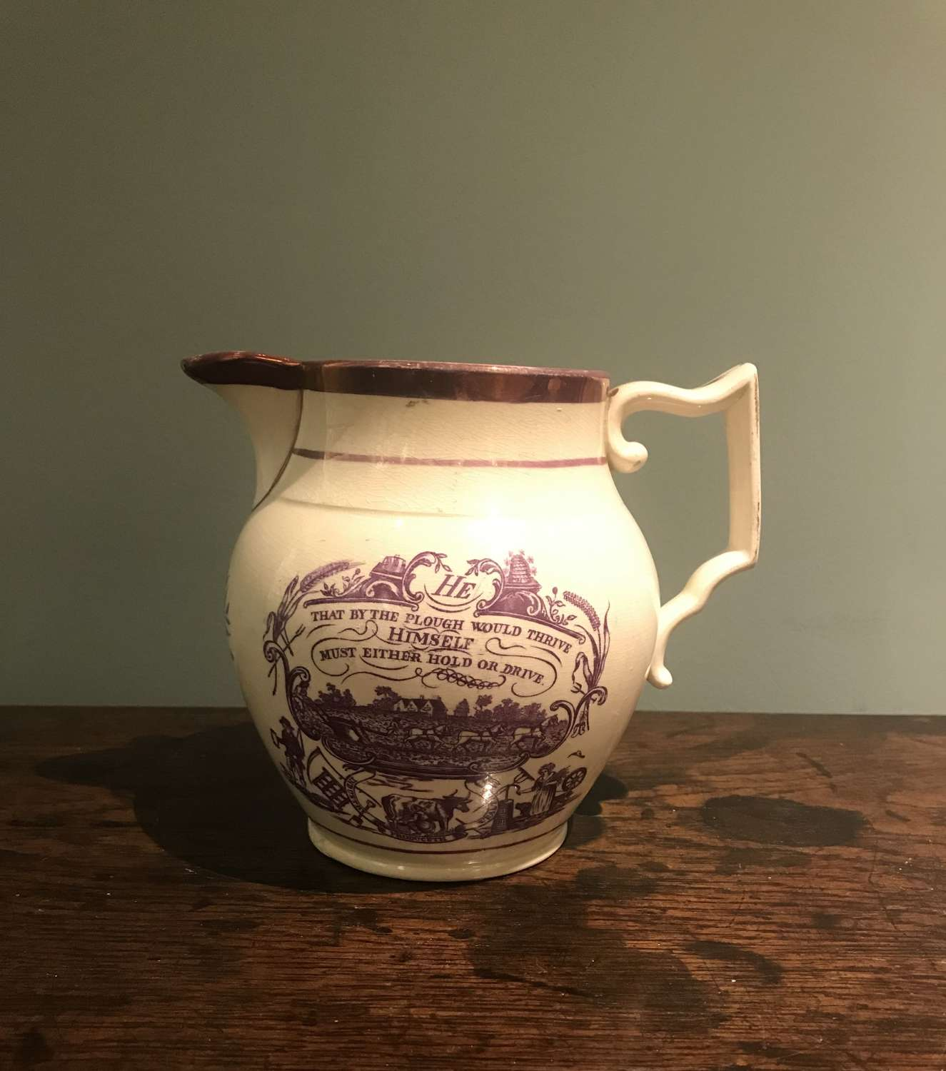 18th c. 'Success to the Farmer' jug