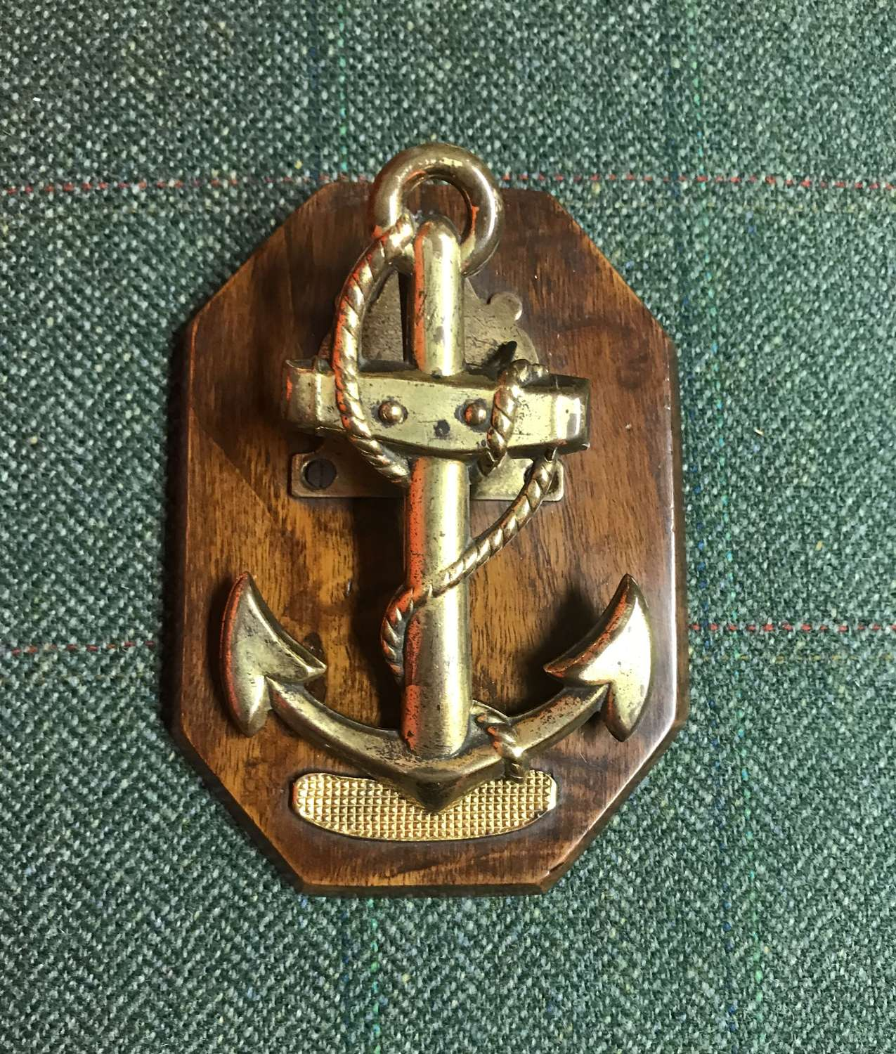 19th c. letter clip - fouled anchor