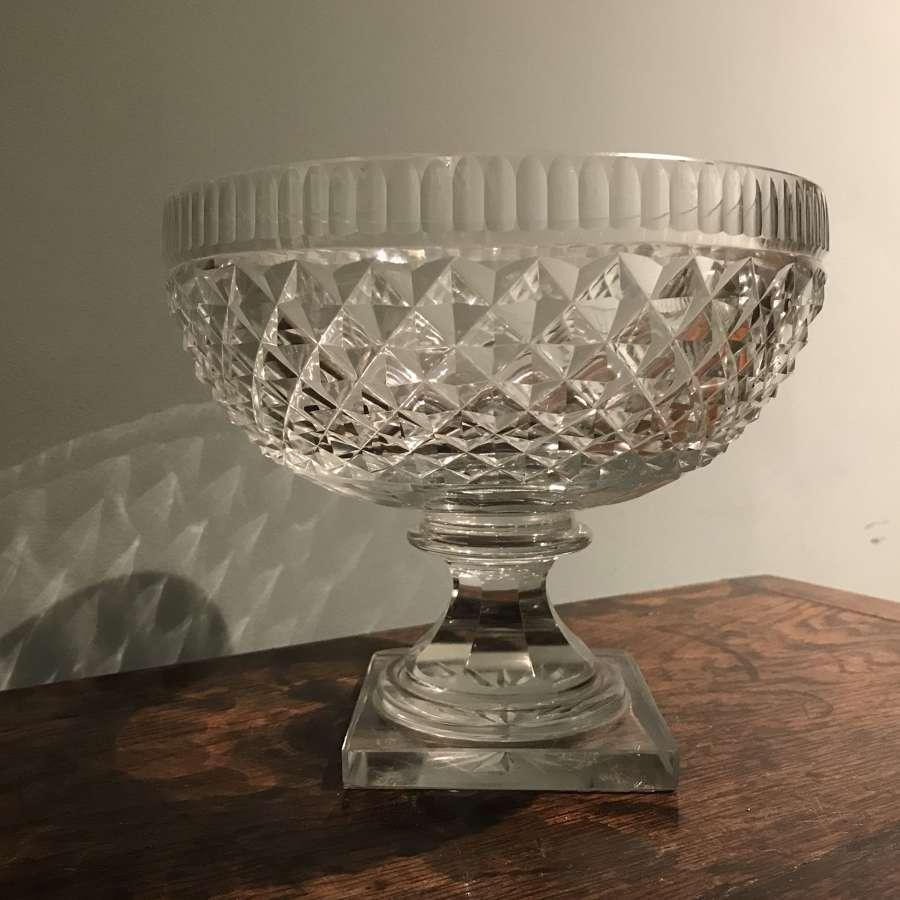 Regency cut glass fruit bowl