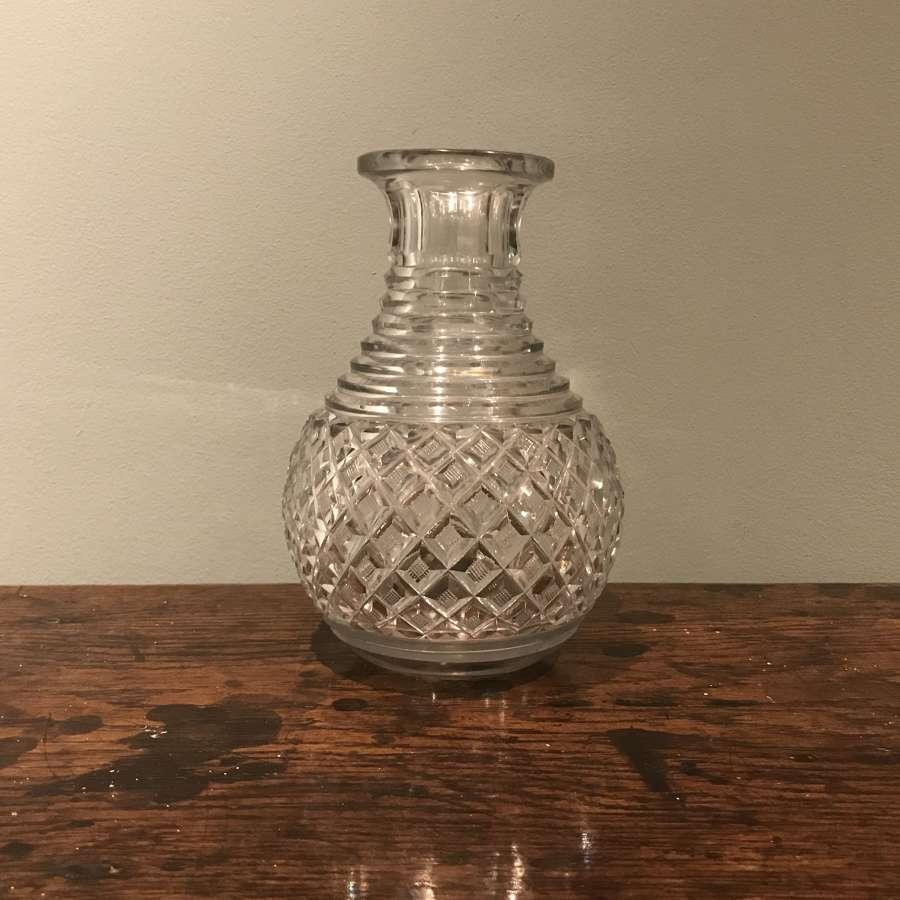 Regency cut glass small carafe