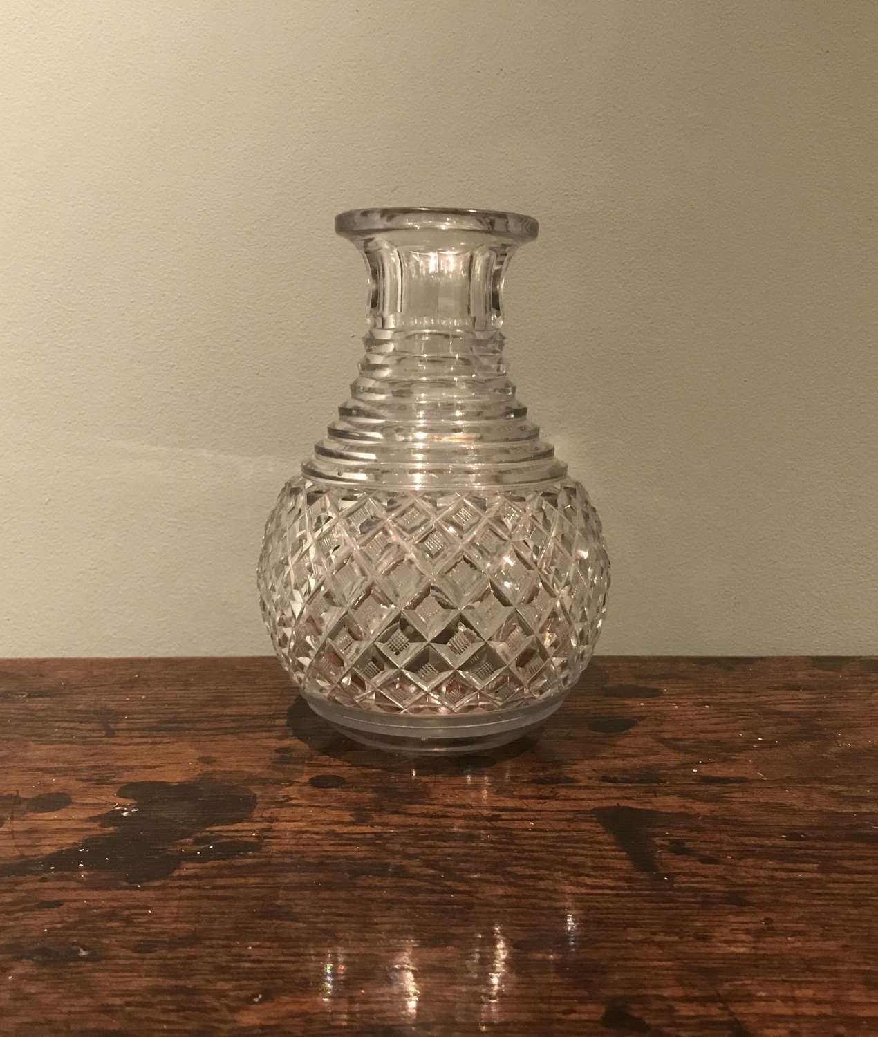 Regency cut glass small carafe