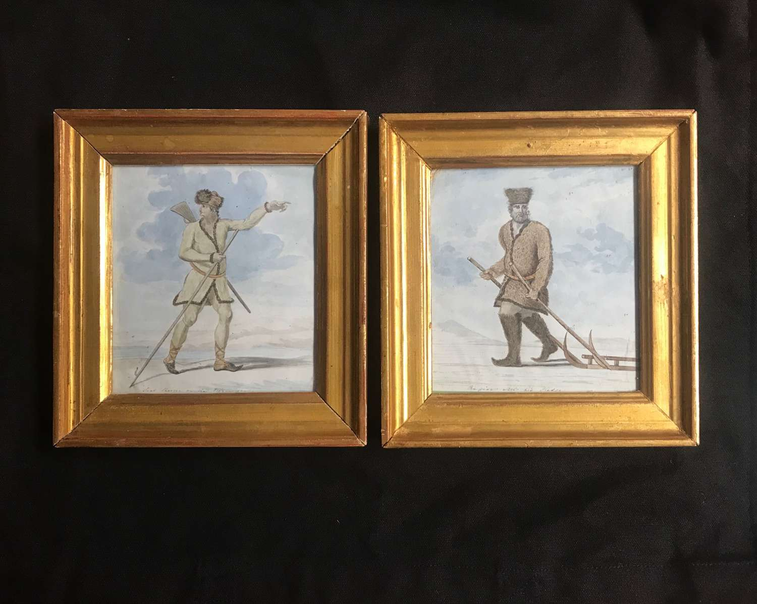 Pair of Regency watercolours -