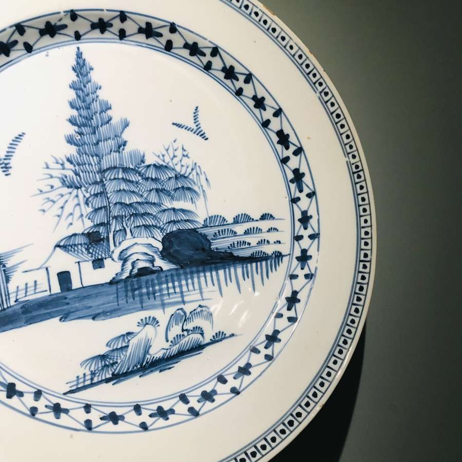 18th c Lambeth Delft charger