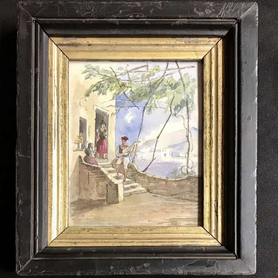 Georgian Watercolour - Neapolitan scene