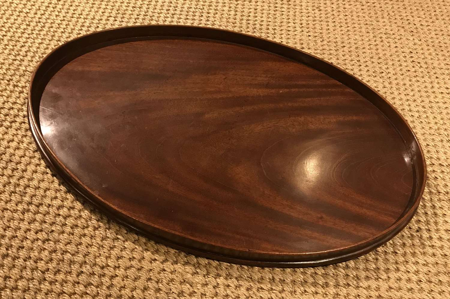 Georgian mahogany oval tray
