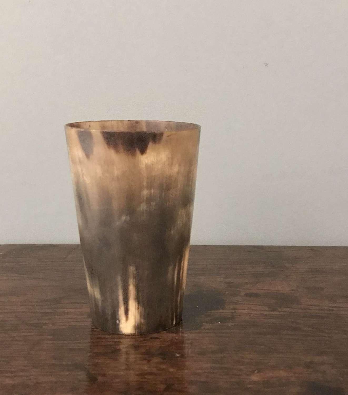19th c horn beaker