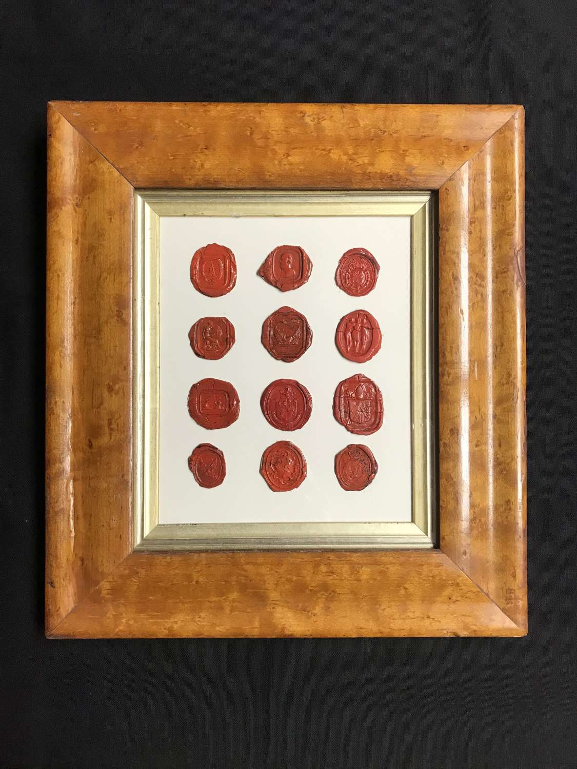 Framed Red wax seals