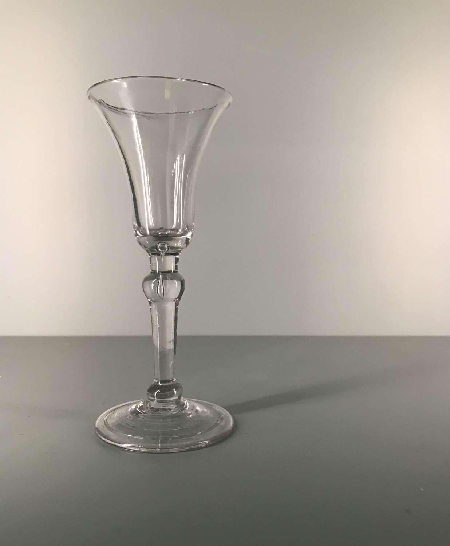 18th c. English Balustroid Gin Glass
