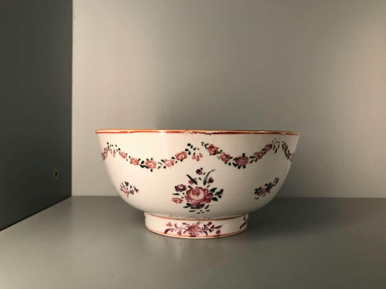 18th c. Qianlong famille rose bowl
