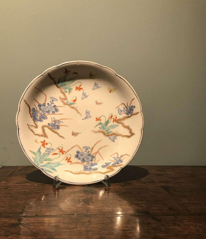 Meiji period Arita plate with butterflies
