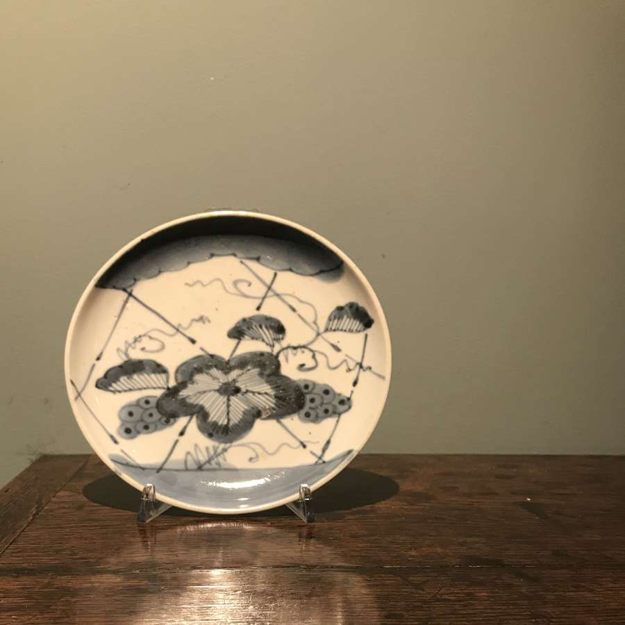 Edo period Japanese provincial blue and white plate