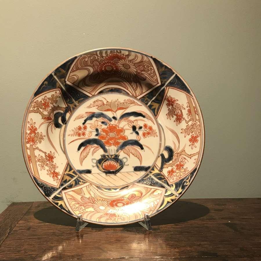 Genroku Arita Imari plate c 1690