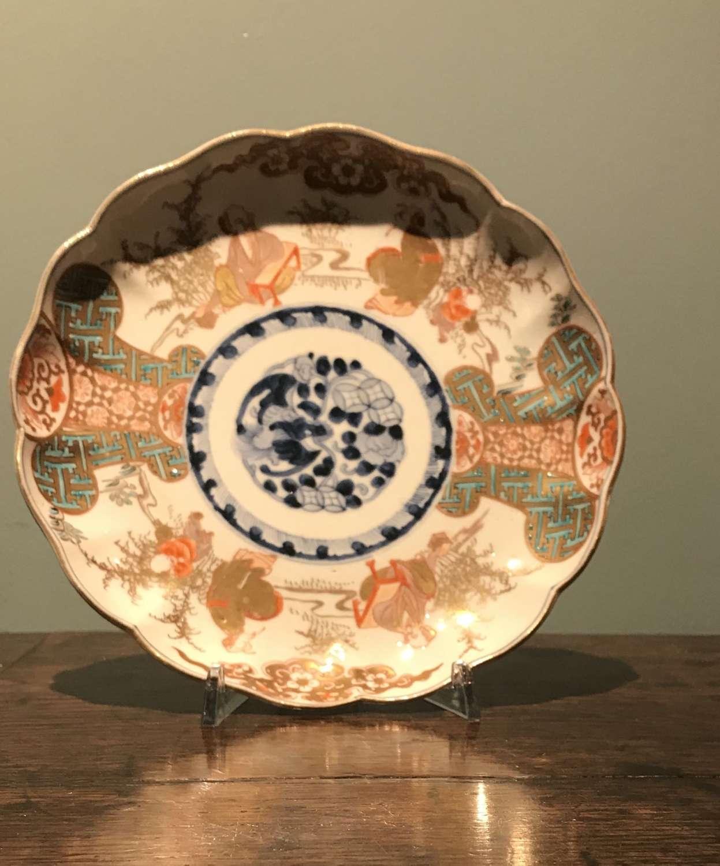 Meiji period Japanese Imari Verte plate c.1880