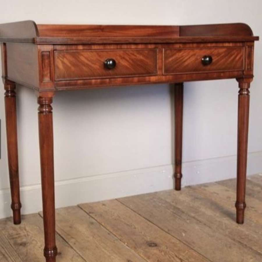 Georgian Mahogany 2-drawer side table