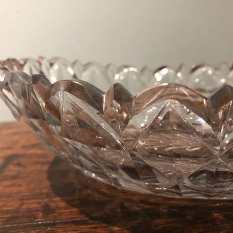18th century Irish cut glass bowl