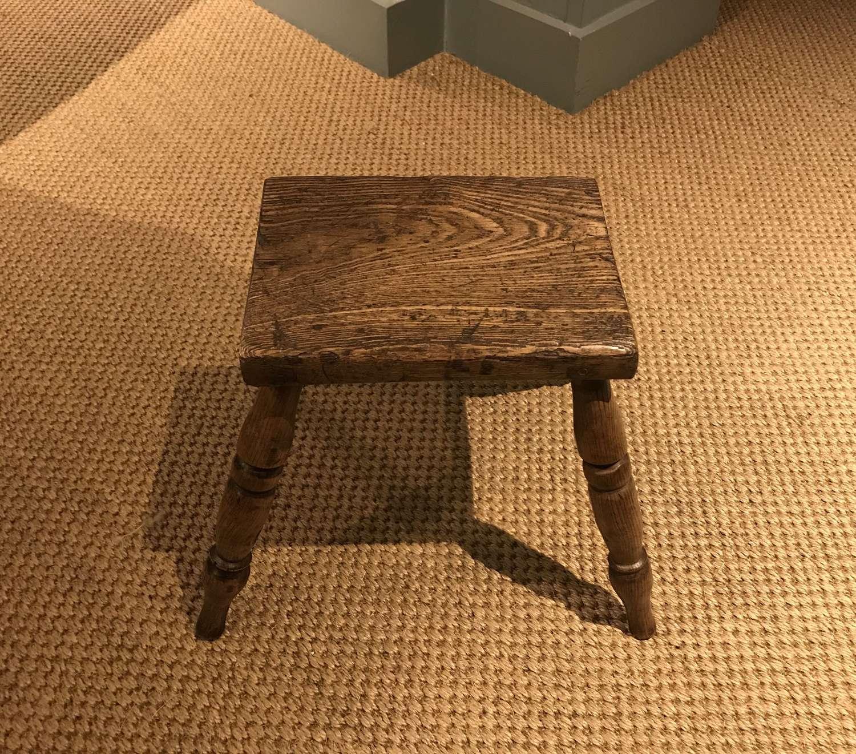 19th c. ash wood stool