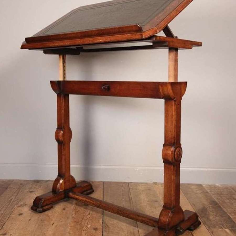19th c. Architect's table in oak