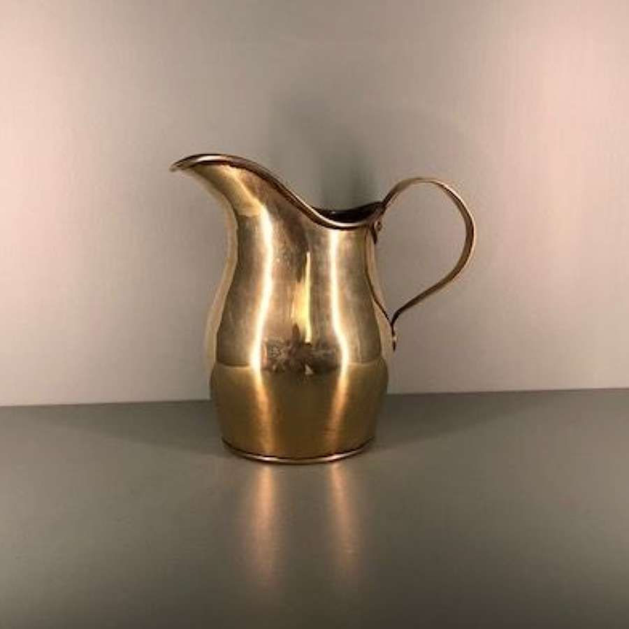 Georgian Brass Ale Jug