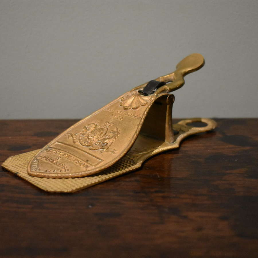 19th century gilt brass letter clip