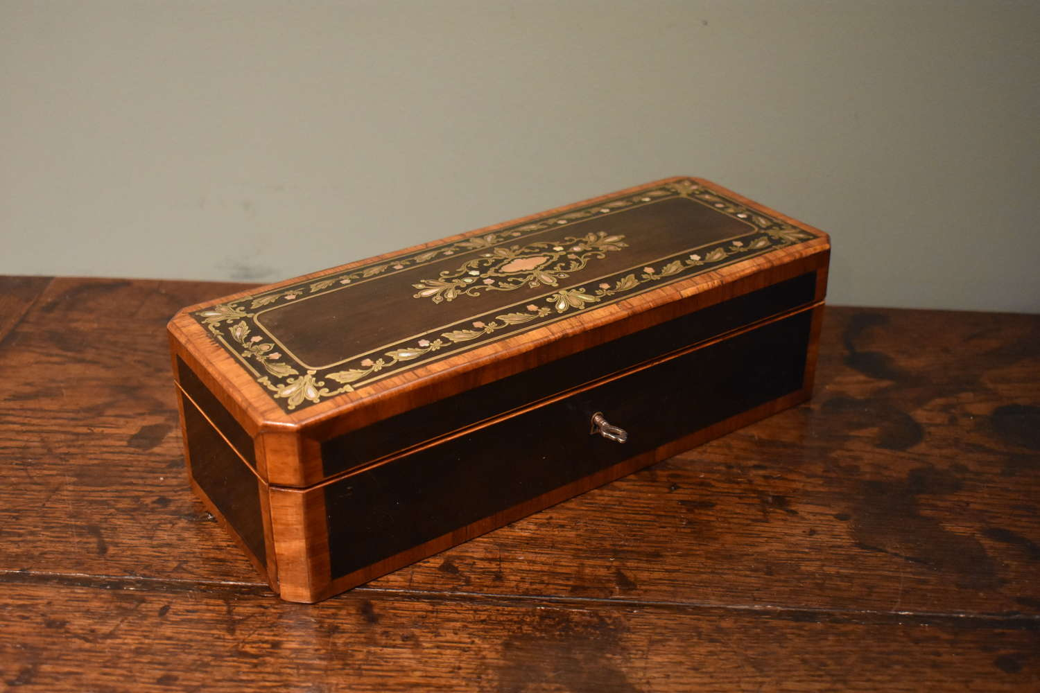 19th c. French glove box