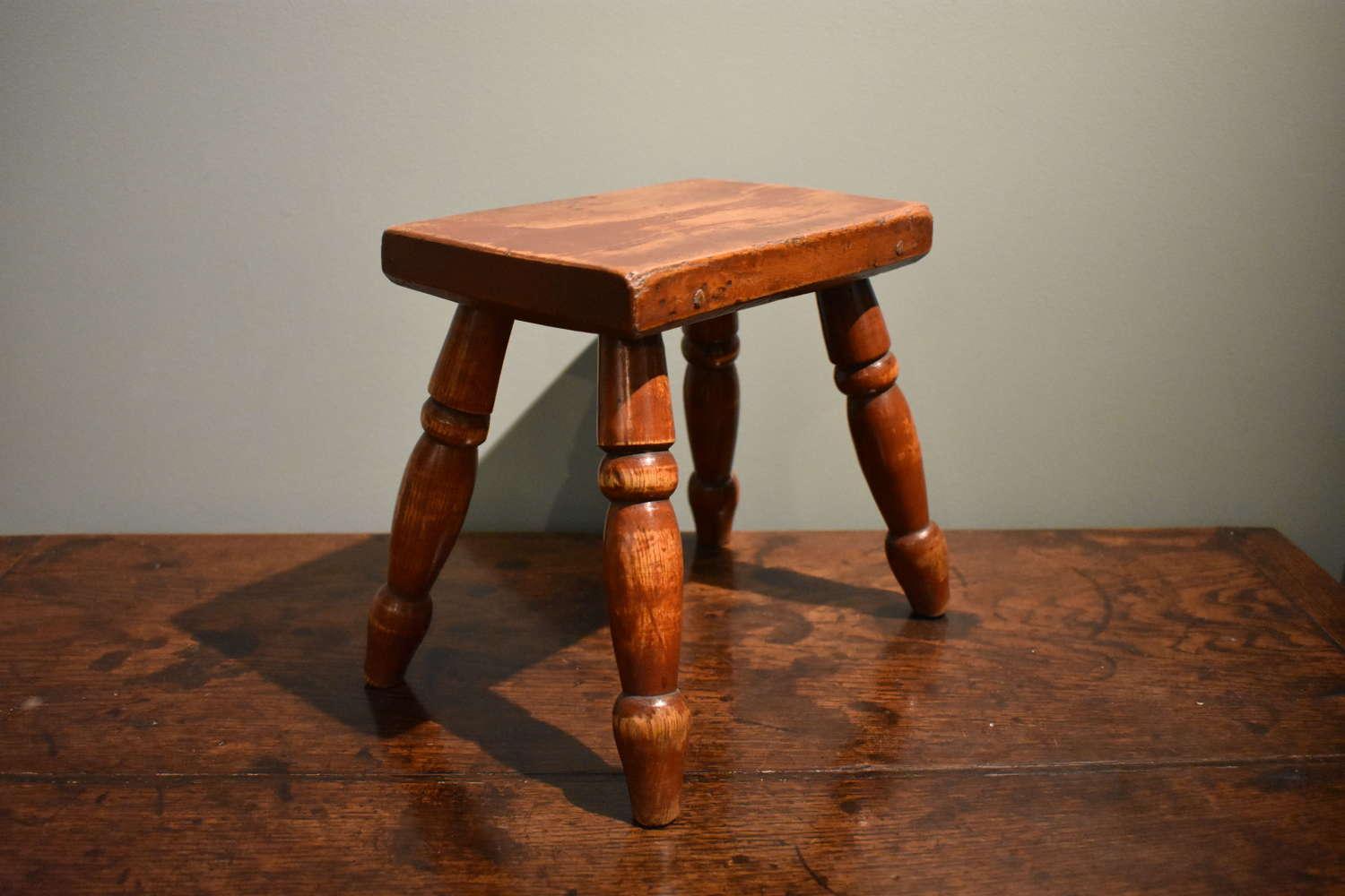 19th c. Painted Stool