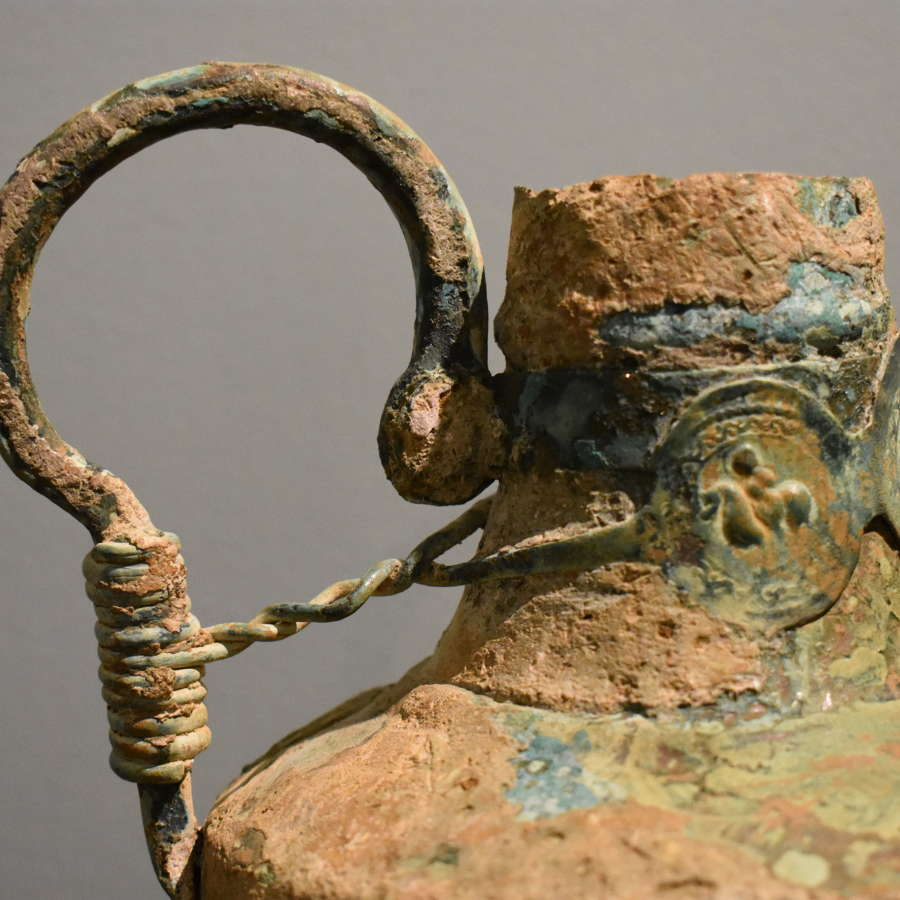6th-8th c. Byzantine Copper Jug with Medallions