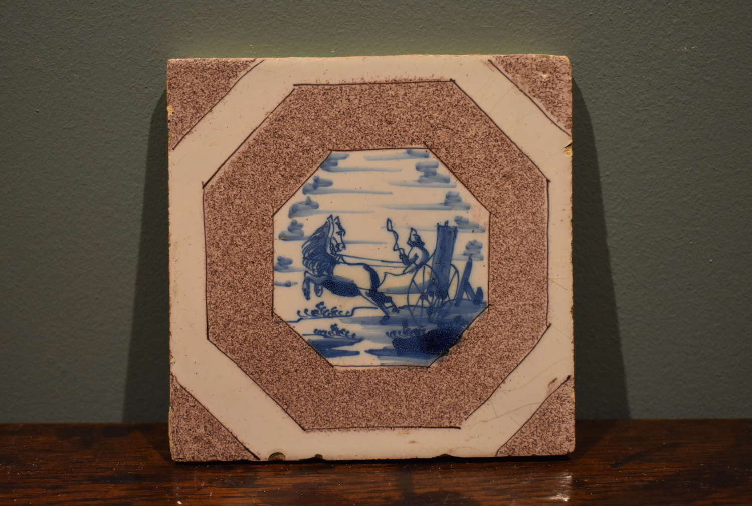 Rare, Mid 18th c. Dutch Delft tile