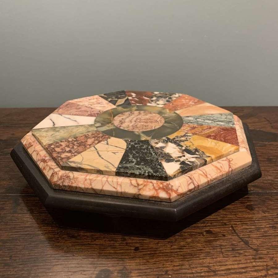 19th c. Grand Tour specimen marble centrepiece